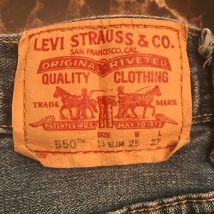 Levi's Boys Size 14 Slim 550 Relaxed {4}